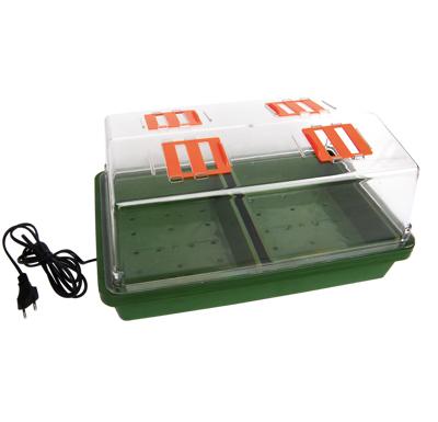 Skleníček plastový s vytápěním,38*24*19cm,tvrdý plast