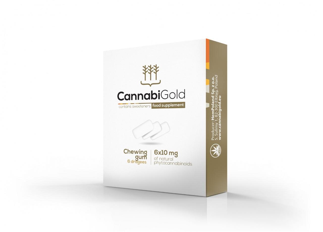 CannabiGold žvýkačky 6 x 10mg