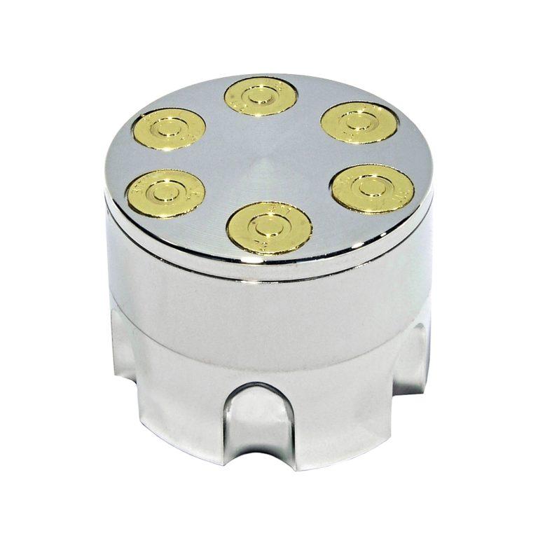 Drtička kovová 3-dílná Zásobník stříbrný 5cm