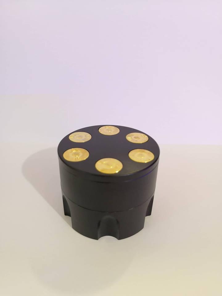 Drtička kovová 3-dílná Zásobník černý 5cm